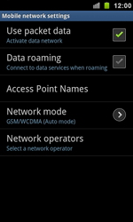 Samsung I9100 Galaxy S II - Network - Usage across the border - Step 6