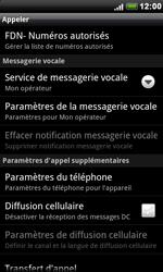 HTC S510e Desire S - Messagerie vocale - Configuration manuelle - Étape 5