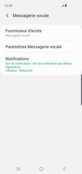 Samsung Galaxy S10e - Messagerie vocale - configuration manuelle - Étape 10
