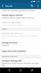 HTC One M9 - Sécuriser votre mobile - Personnaliser le code PIN de votre carte SIM - Étape 5