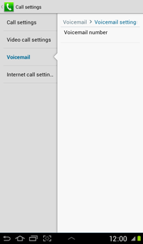 Samsung P3100 Galaxy Tab 2 7-0 - Voicemail - Manual configuration - Step 7