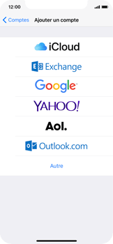 Apple iPhone X - E-mail - Configuration manuelle (outlook) - Étape 5