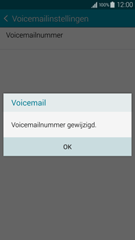 Samsung Galaxy Note 4 4G (SM-N910F) - Voicemail - Handmatig instellen - Stap 10