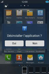 Samsung Wave M - Applications - Supprimer une application - Étape 5
