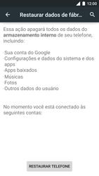 Motorola Moto Turbo - Funções básicas - Como restaurar as configurações originais do seu aparelho - Etapa 8