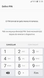 Samsung Galaxy A3 (2017) - Segurança - Como ativar o código de bloqueio do ecrã -  7