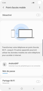 Samsung Galaxy S10 - Internet - comment configurer un point d'accès mobile - Étape 12