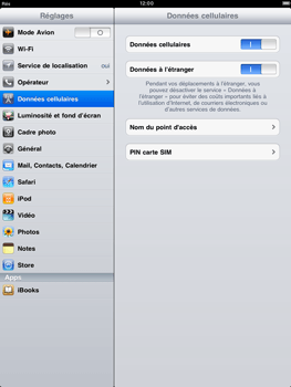 Apple iPad 2 - Internet - configuration manuelle - Étape 4