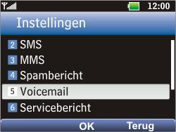 LG C360 Golf - Voicemail - Handmatig instellen - Stap 5