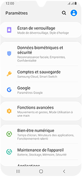 Samsung Galaxy A40 - Données - créer une sauvegarde avec votre compte - Étape 4