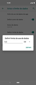 Motorola One Vision - Rede móvel - Como definir um aviso e limite de uso de dados - Etapa 14