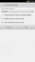 Sony LT28h Xperia ion - E-mail - Manual configuration - Step 13