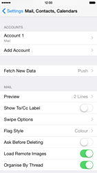 Apple iPhone 6 iOS 8 - Email - Manual configuration - Step 25