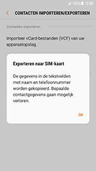Samsung Galaxy S7 - Android N - Contacten en data - Contacten kopiëren van toestel naar SIM - Stap 9