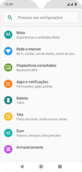 Motorola Moto G7 - Rede móvel - Como definir um aviso e limite de uso de dados - Etapa 4