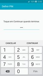 Samsung Galaxy S6 - Segurança - Como ativar o código de bloqueio do ecrã -  8