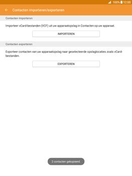 Samsung Galaxy Tab A 9.7 (SM-T555) - Contacten en data - Contacten kopiëren van SIM naar toestel - Stap 11