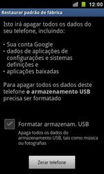 Samsung I9100 Galaxy S II - Funções básicas - Como restaurar as configurações originais do seu aparelho - Etapa 6