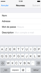 Apple iPhone 5 iOS 7 - E-mail - Configuration manuelle - Étape 8