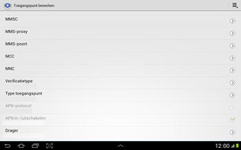 Samsung N8000 Galaxy Note 10-1 - Mms - Handmatig instellen - Stap 12