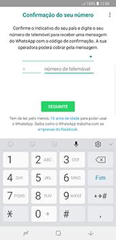 Samsung Galaxy Note 8 - Android Oreo - Aplicações - Como configurar o WhatsApp -  9