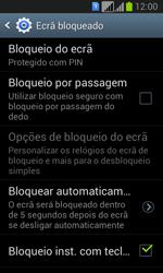 Samsung Galaxy Fresh Duos - Segurança - Como ativar o código de bloqueio do ecrã -  11