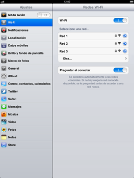 Apple iPad 2 - WiFi - Conectarse a una red WiFi - Paso 5