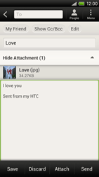 HTC S720e One X - E-mail - Sending emails - Step 14