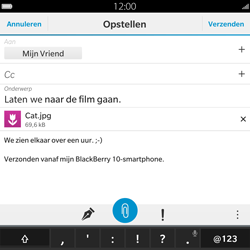 BlackBerry Passport - E-mail - Hoe te versturen - Stap 16