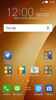 Asus Zenfone Go - Funções básicas - Como restaurar as configurações originais do seu aparelho - Etapa 1