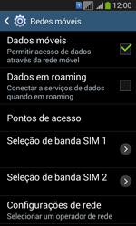 Samsung SM-G3502T Galaxy Core Plus Duo TV - Rede móvel - Como ativar e desativar uma rede de dados - Etapa 6