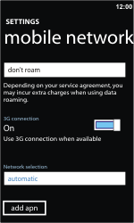 Nokia Lumia 710 - Internet - Manual configuration - Step 7