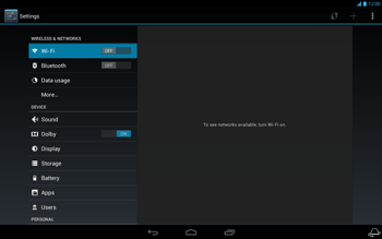 Acer Iconia Tab A3 - Internet - Enable or disable - Step 4