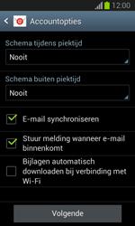 Samsung S7390 Galaxy Trend Lite - E-mail - Account instellen (POP3 zonder SMTP-verificatie) - Stap 16