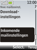 Nokia 2720 fold - E-mail - Handmatig instellen - Stap 18