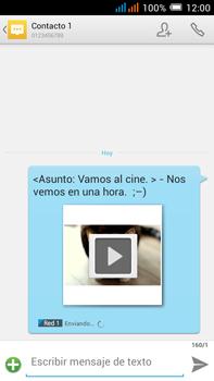 Alcatel Pop C9 - Mensajería - Escribir y enviar un mensaje multimedia - Paso 21