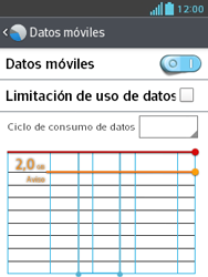LG Optimus L3 II - Internet - Ver uso de datos - Paso 5