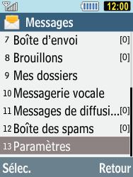 Samsung C3590 - E-mails - Ajouter ou modifier un compte e-mail - Étape 4