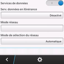 BlackBerry Q10 - Aller plus loin - Désactiver les données à l'étranger - Étape 8