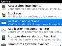BlackBerry 9720 - Applications - Supprimer une application - Étape 5