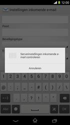 Sony D2303 Xperia M2 - E-mail - Account instellen (IMAP zonder SMTP-verificatie) - Stap 11