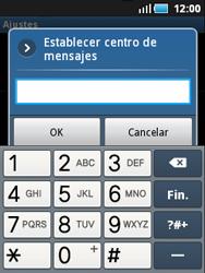 Samsung S5570 Galaxy Mini - Mensajería - Configurar el equipo para mensajes de texto - Paso 5