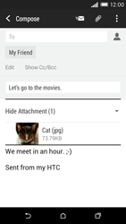 HTC Desire EYE - E-mail - Sending emails - Step 16