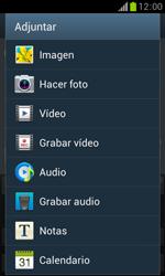 Samsung S7560 Galaxy Trend - Mensajería - Escribir y enviar un mensaje multimedia - Paso 14