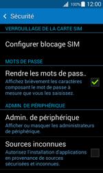 Samsung Galaxy Ace 4 - Sécuriser votre mobile - Personnaliser le code PIN de votre carte SIM - Étape 5