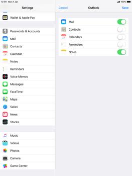 Apple iPad mini 4 iOS 12 - E-mail - Manual configuration (outlook) - Step 9