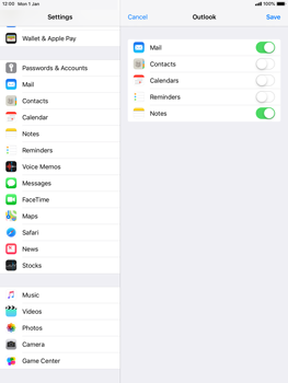 Apple iPad Air 2 - iOS 12 - E-mail - Manual configuration (outlook) - Step 9