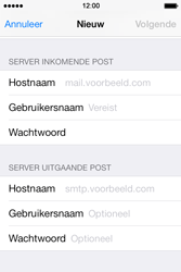 Apple iPhone 4 iOS 7 - E-mail - Account instellen (IMAP zonder SMTP-verificatie) - Stap 11