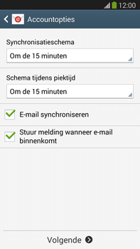 Samsung N9005 Galaxy Note III LTE - E-mail - Account instellen (IMAP met SMTP-verificatie) - Stap 16