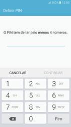 Samsung Galaxy S6 Android M - Segurança - Como ativar o código de bloqueio do ecrã -  7